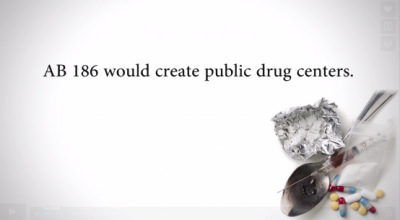 AB 186 would create public drug centers.